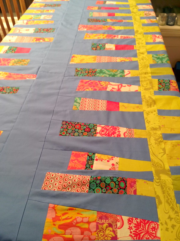 Beanstalks Quilt Top, Straightened at Last