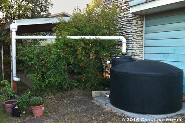 550 gallon rainwater harvesting tank