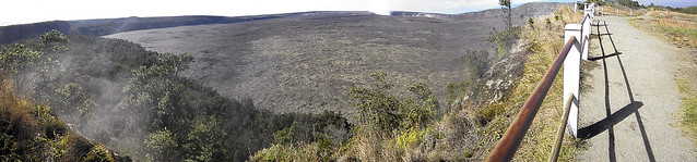 Panoramic photo of Hawaii Volcanoes National Park