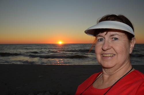 sunset usa selfportrait me gulfofmexico florida ofme capesanblas thanksgivingtrip 365days