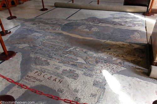 Part of the Mosaic Map at St. George's