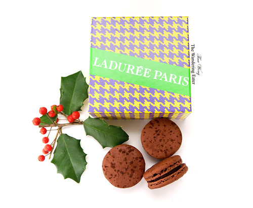 Ladurée's Pied de Coq box with Black Forest macarons