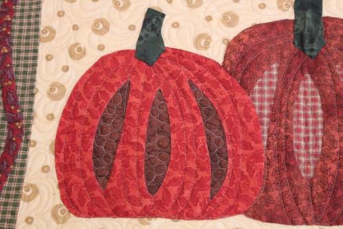 Pumpkin Stars quilting
