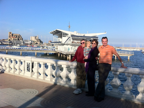 Paul, Betsy, Nora and Erik in Castro Urdiales