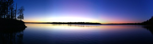 blue sunset panorama orange lake water moblog georgia dusk pano lakeoconee iphone 2011