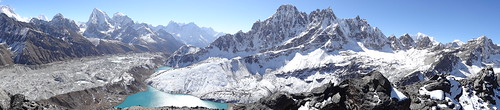A taste of things to come..... Three High Passes to Everest trek: the view from Gokyo Ri (5,357m/17,575ft)