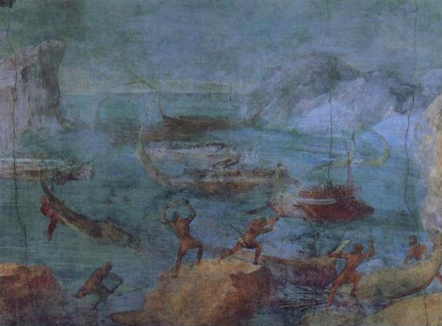 Laestrygonians_Hurling_Rocks_at_the_Fleet_of_Odysseus