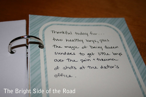 30 Days of Gratitude - mini book, Nov 18