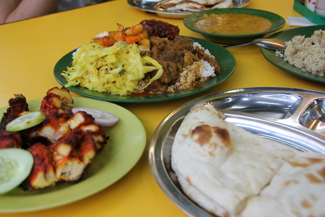 Meal at Hameed's in Kuala Lumpur