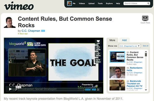 Content Rules, But Common Sense Rocks on Vimeo by stevegarfield