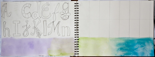30 Days in My Art Journal: My Alpha - Sketch Phase Part 1
