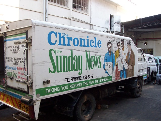 The Chronicle delivery van