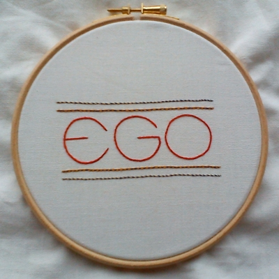 Embroidered EGO!