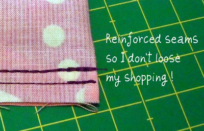 Grocery bag- reinforced seams