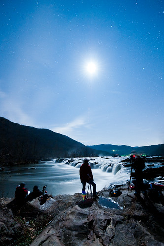 Night Shoot at Sandstone Falls, WV