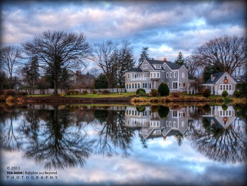 morning winter house reflection fall clouds sunrise landscape pond nikon december smooth victorian longisland clear argyle babylon hdr argylelake babylonvillage nikond90 babylonandbeyond fineplatinumgallery