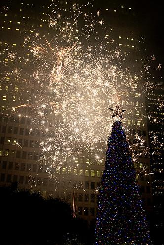 Tree & Glittery Fireworks