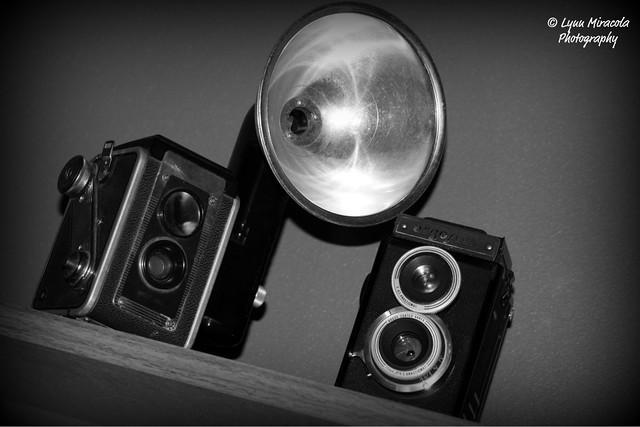 Vintage Cameras in B&W