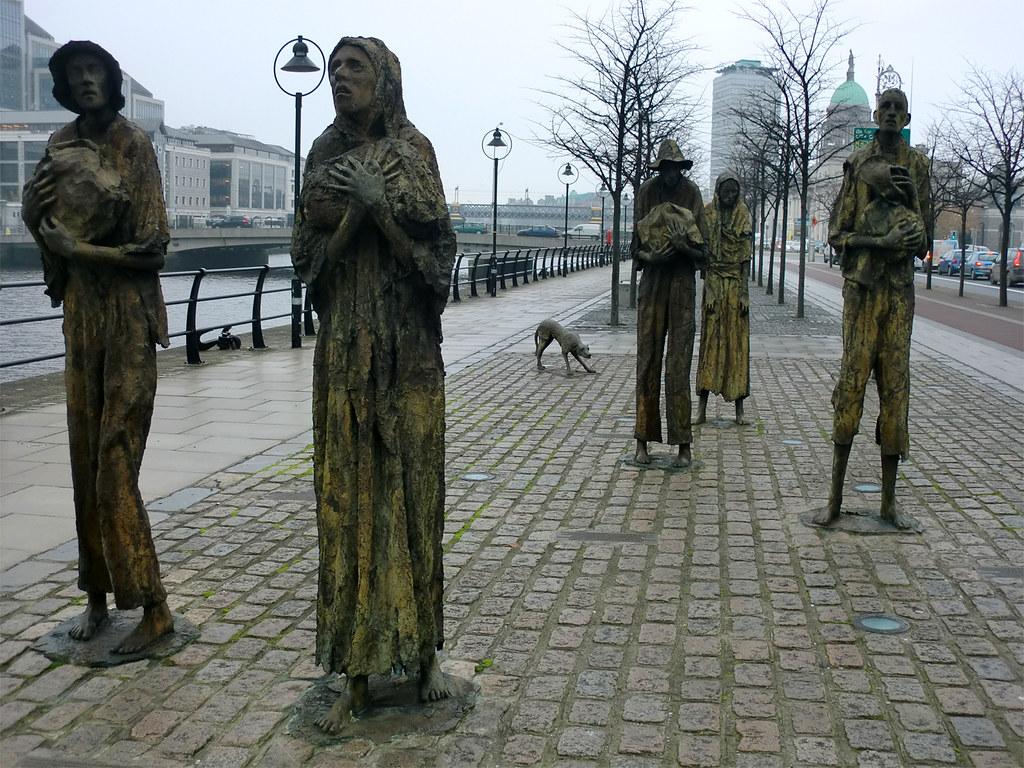 Famine Memorial, Quayside - Dublin, Ireland.