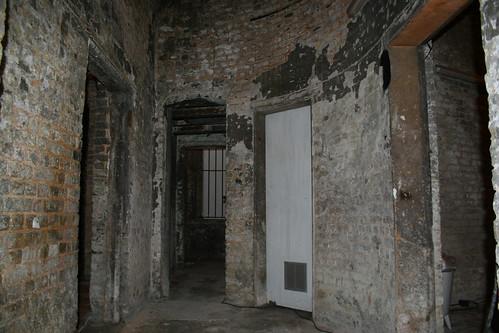 Brick undercroft near The Mall