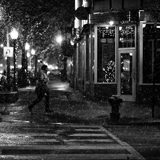 counting snowflakes on a quiet night