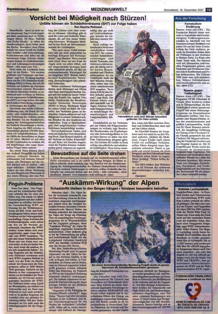 Argentinisches Tageblatt 15-12-07