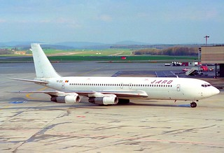 Jaro International Boeing 707-321B; YR-JCB@ZRH;08.04.1995
