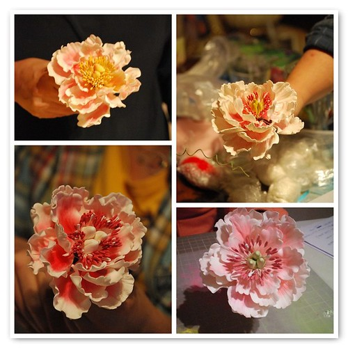 Gum Paste Peony Workshop by Ayse Yaman in Istanbul,TURKEY