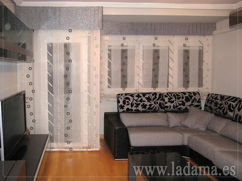 Decoraci n para salones modernos cortinas paneles - Cortinas actuales para salon ...