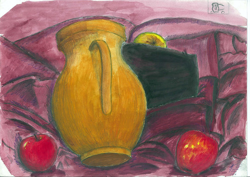 Apples and vases