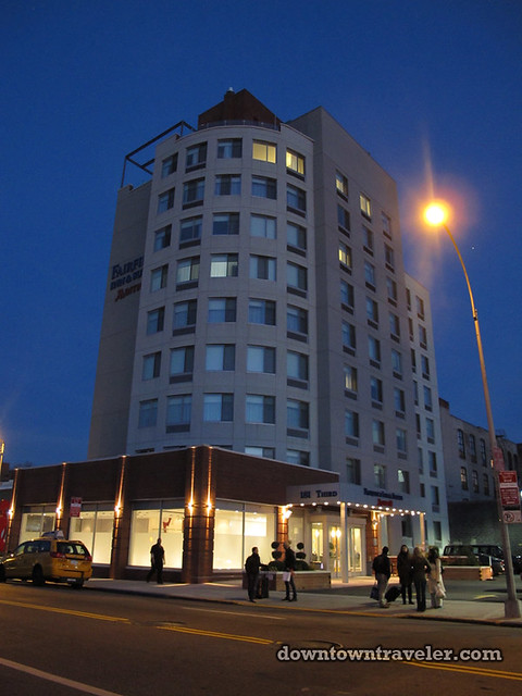 Brooklyn Fairfield Inn Hotel at night
