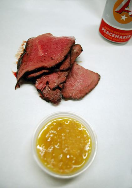 Coffee Rubbed Texas Wagyu w/Peach Habanero Sauce - Live Oak Barbecue ...