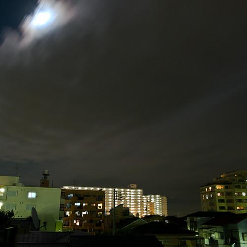 Pre Lunar Eclipse, Minami Kasai, Tokyo, Japan