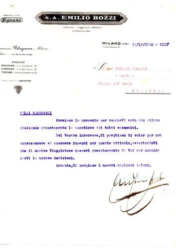 Lettera Legnano 1930 by ruote di carta