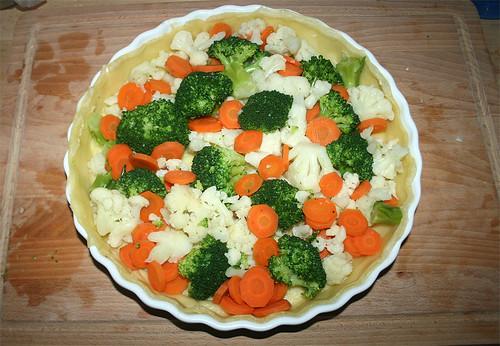 23 - Gemüse in Teig geben