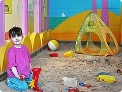 Valerie Playing in the Sandpit