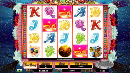 Samba Nights free spins