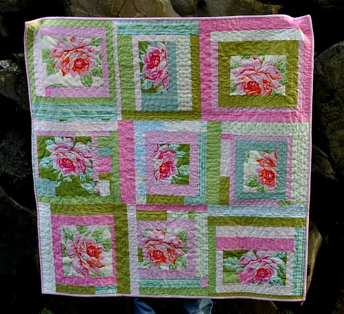 rose baby quilt