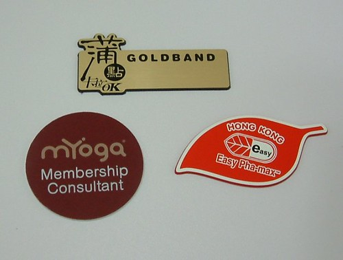 special shape name badges