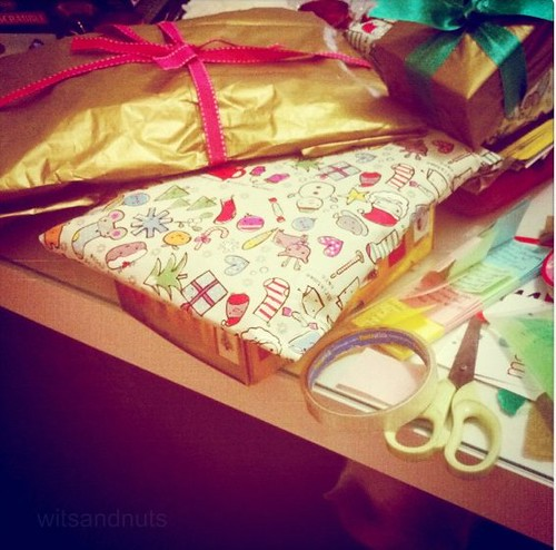 The happy mess of giftwrapping!
