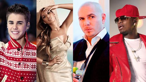 Justin Bieber Leona Lewis Pitbull Ne-Yo