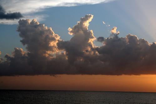 sunset sky usa west sunrise soleil key miami ciel leve floride couche amerique