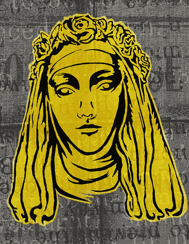 St. Rose Stencil Painting