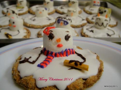 2011聖誕節雪人餅乾
