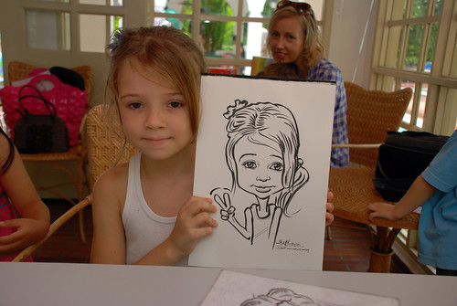 caricature live sketching for children birthday party 08 Oct 2011 - 5