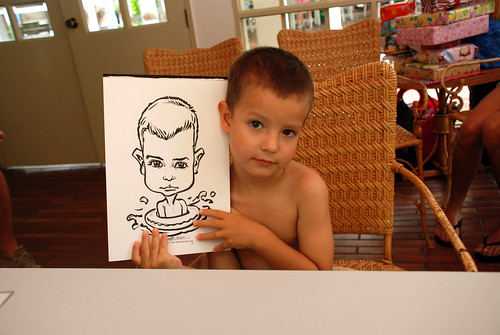 caricature live sketching for children birthday party 08 Oct 2011 - 13