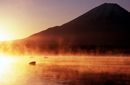 無料写真素材, 自然風景, 山, 河川・湖, 朝焼け・夕焼け, 風景  日本