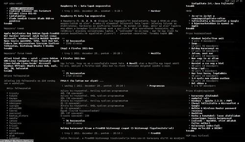 Links - szöveges és grafikus módban egyaránt működni képes böngésző