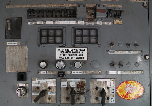 Train Engine Instrument Panel