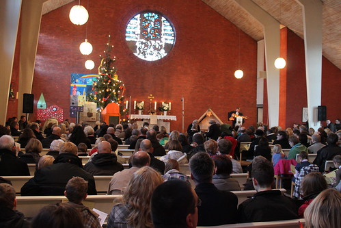 Etelser Kirche an Weihnachten